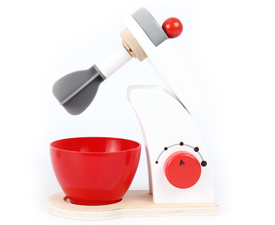 Kids Wooden Pretend Play Sets Simulation Toasters Bread Maker Coffee Machine Blender Baking Kit Game Wood Mixer Kitchen Role Toy