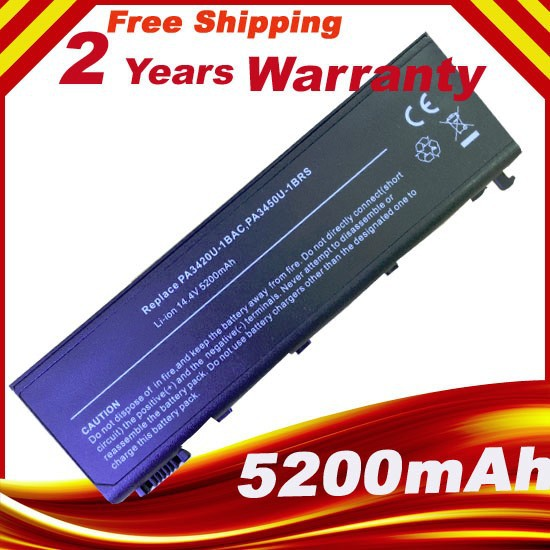 8 CELL Laptop battery for Toshiba Satellite L10 L20 L15 L100 L25 L30 L35 Series PA3420U PA3420U-1BAS PA3420U-1BRS PA3450U-1BRS