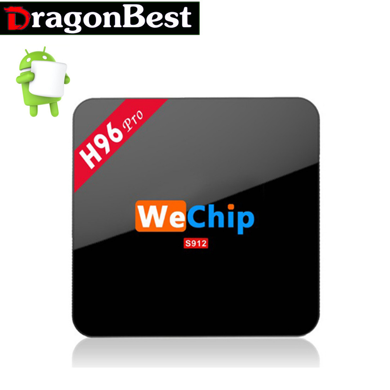 Android TV Box Gigabit Ethernet Android 6.0 TV BoxWeChip H96 PRO Amlogic S912 Quad Core Wifi 2.4G&5.0G Bluetooth4.0 2G/16G 1000M m8 fully loaded xbmc amlogic s802 android tv box quad core 2g 8g mali450 4k 2 4g 5g dual wifi pre installed apk add ons