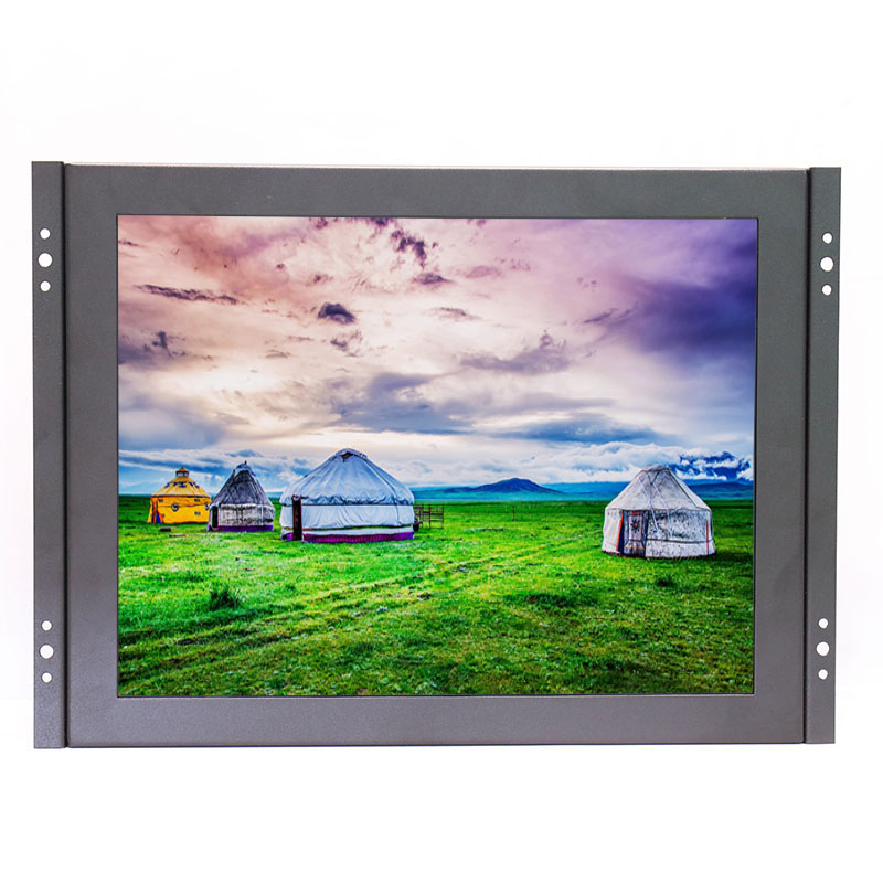 Open Frame 12 inch 1024x768 HD 4:3 Metal Shell HDMI VGA USB Industrial Four-wire Resistive Touch Monitor LCD Screen Display zb097tn v591 9 7 inch 1024x768 4 3 bnc hdmi vga hd stand wall mounted metal case industrial equipment monitor lcd screen display