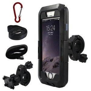Image 2 - Wasserdicht Telefon Halter Für iPhone11 Pro Max X XR XS MAX 8 7Plus SE Motorrad Telefon Stehen Unterstützung Fahrrad GPS Rüstung Fall Moto