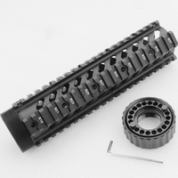 9 Hunting Rifle Gun Gear Accessories M16 M4 AR 15 Hand Gurad Free Float RAS Quad Rail Mount .223 5.56 for Outdoor Shooting