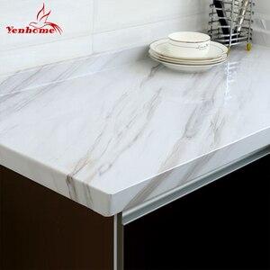 Image 1 - Мраморная виниловая пленка , самоклеящаяся настенная бумага для ванной комнаты, кухни, столешницы, контактная бумага, ПВХ водонепроницаемые наклейки на стену
