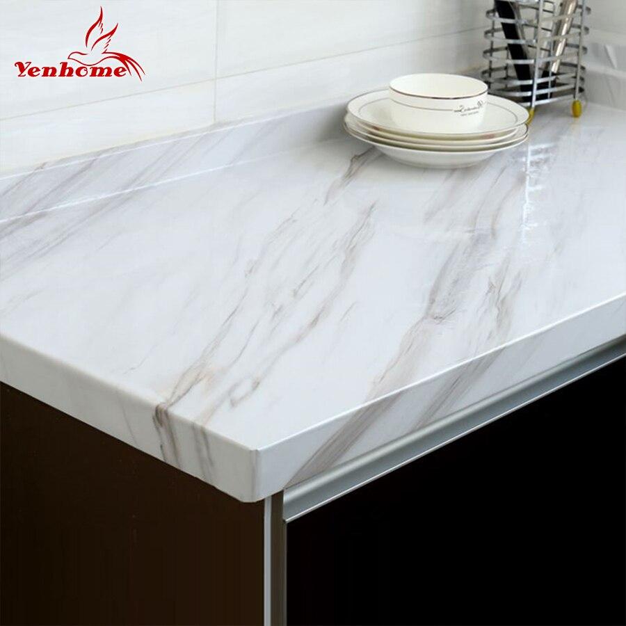 Papel pintado autoadhesivo de vinilo de mármol para encimeras de cocina de baño papel de Contacto PVC pegatinas de pared impermeables
