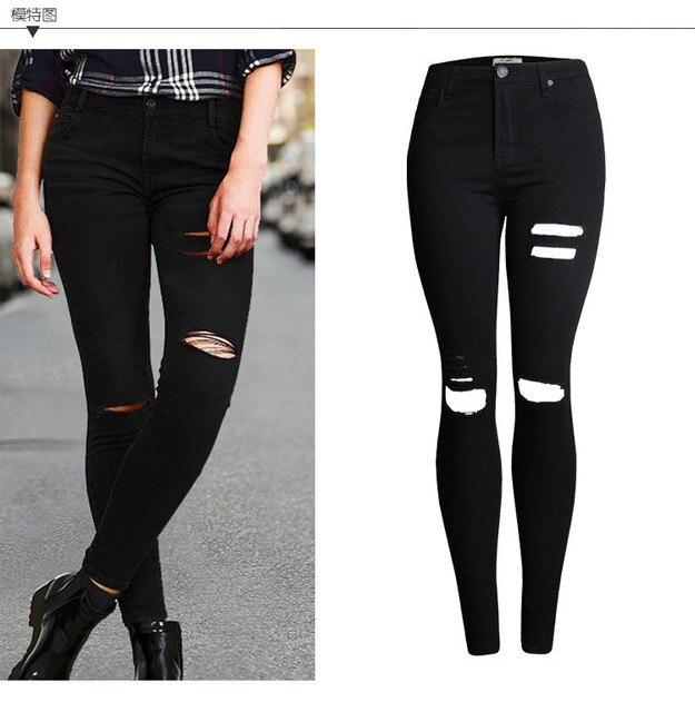 Jeans pour femme noire