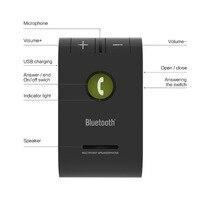 Siparnuo громкая связь в автомобиль Wilress Bluetooth громкая связь Bluetooth Car Handsfree V4.1 свободная рука A2DP Шум отменить двойной телефон подключен