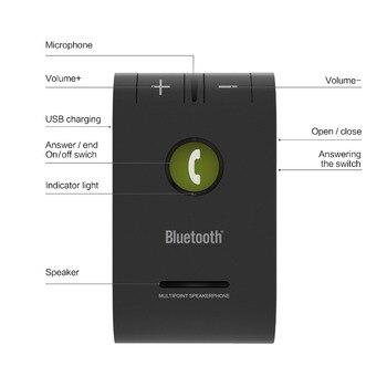 Siparnuo Wireless Aux Car Bluetooth Speaker Phone Hands Free Speakerphone with USB Bluetooth Handsfree Carkit siparnuo aux bluetooth speakerphone car kit handsfree bluetooth auto carkit wireless sun visor car speaker