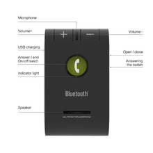 Siparnuo Wireless Aux Car Bluetooth Speaker Phone Hands Free Speakerphone with USB Bluetooth