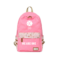 EXO Backpack Canvas for teenagers School travel We are one Shoulder Bag High Quality EXO Fans Campus Print bag Customize Kpop