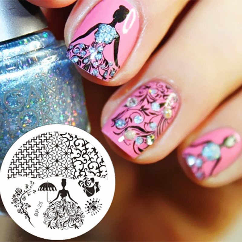BORN PRETTY Rose Queen Theme Nail Art Stamp Plates Image Plate BP25 ...