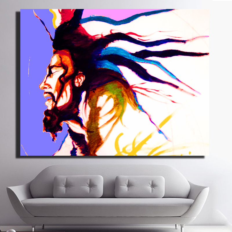 Bedroom Art Painting: Picture Wall Art HD Print Canvas Oil Painting Singer Bob