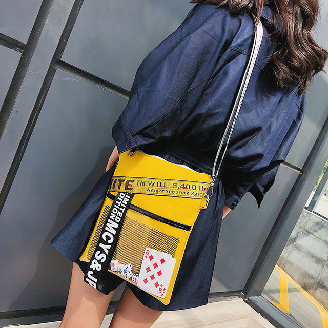 Ladies Cool Poker Cards Sling Bag Handbag Summer Canvas Messenger Bags for Women Fashion Shoulder Bag 5