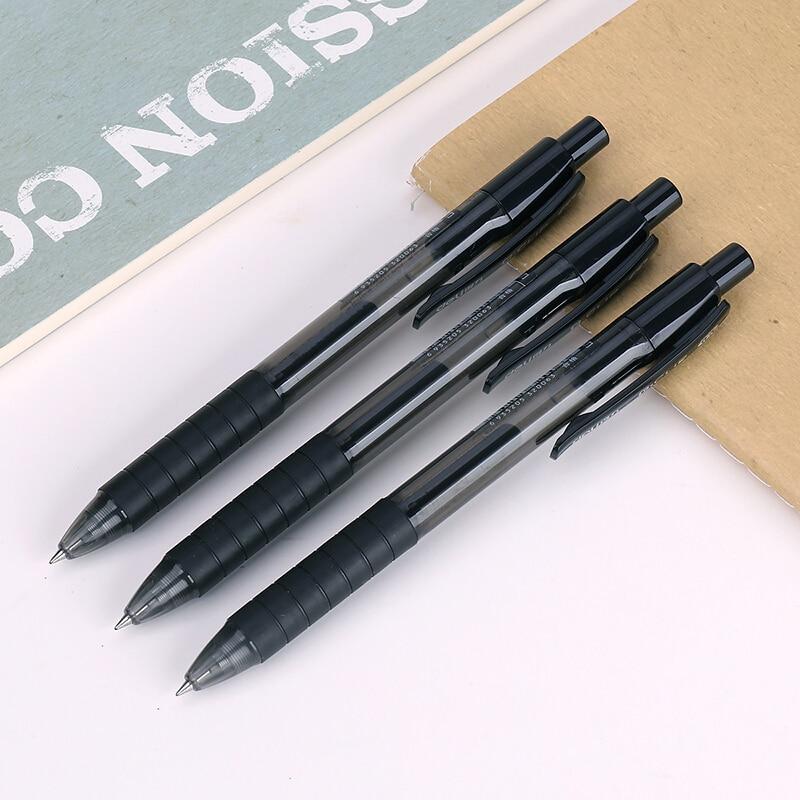 Black Ink 0.5mm Retractable Gel Ink Pen Extra Fine Office School Supplies Stationery