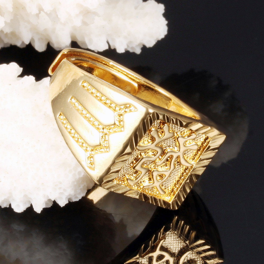 aliexpress : buy cool 14mm wide men ring gold plated ring