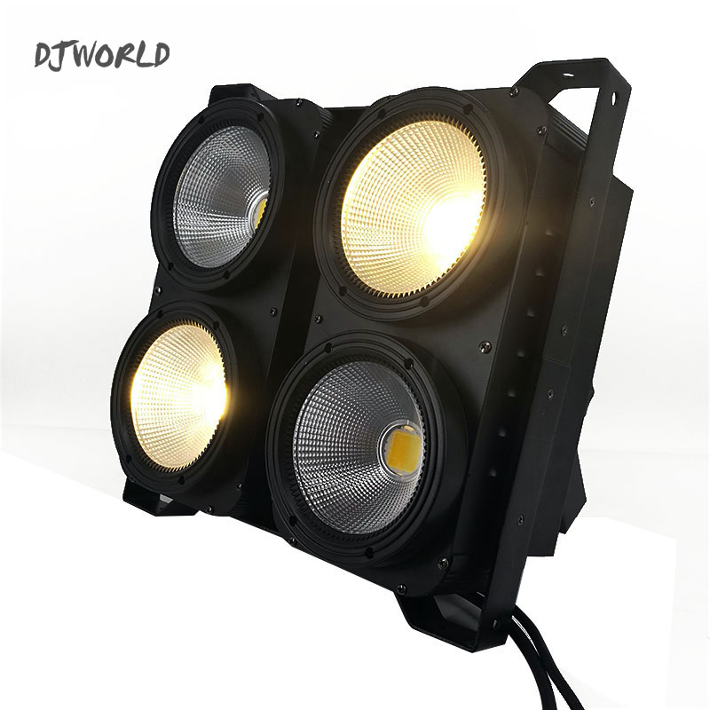 Combination 4x100W 4Eyes LED Blinder Light COB Cool/Warm White LED High Power Professional Stage Lighting For Party Dance Floor 4eyes 4x100w led cob light dmx stage lighting effect led blinder light fast shipping