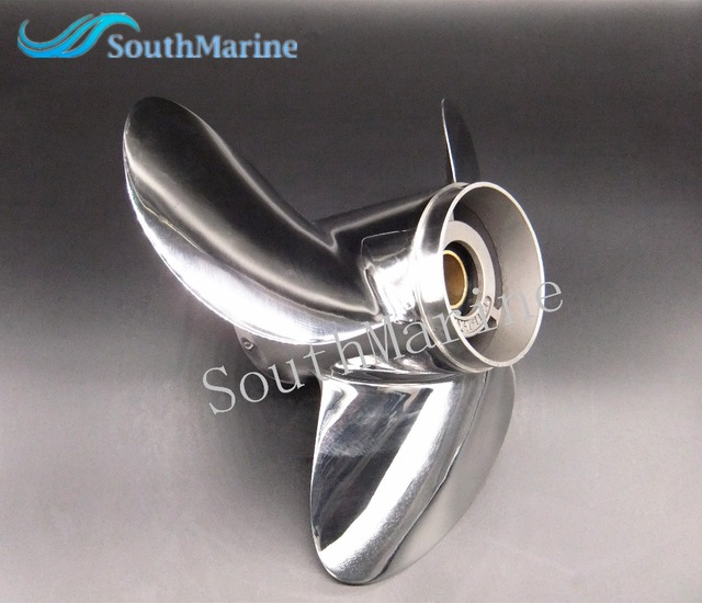11 1/8x14 F Boat Motor Stainless Steel Propeller For Yamaha 40HP 50HP Outboard Motor 11 1/8 x 14  F