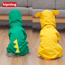 Hipidog Pet Animal Style Raincoat Dog Cat Clothes  Puppy Costume Waterproof Rain Coat Jacket Small Dogs Kitten Schnauzer Teddy