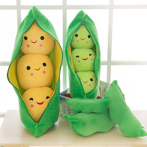 Cute children's baby plush peas filled plant doll toy children kawaii quality pea-shaped pillow toy boy girl gift
