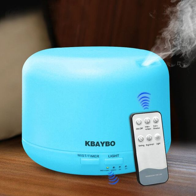 300ML Ultrasonic Air Aroma Humidifier With 7 Color Lights Electric Aromatherapy Essential Oil Aroma Diffuser Remote Control