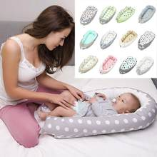 Baby Nest Bed Crib Portable Removable And Washable Crib Travel Bed For Children Infant Kids Cotton Cradle For Newborn Bumper(China)