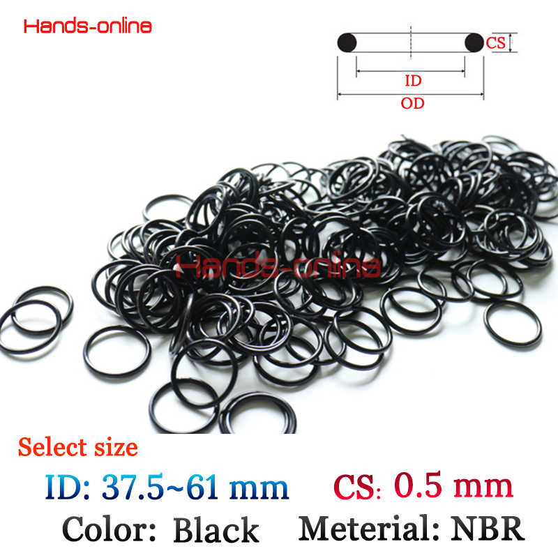 10x ID 37.5 39.5 60mm Oil Resistant NBR Nitrile Butadiene Rubber thickness 0.5mm O-Ring Sealing Ring