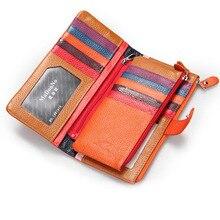 Neue frauen Aus Echtem Leder Lange Brieftasche Multifunktions Card Pack Mehr Als 24 Karte Geldbörse
