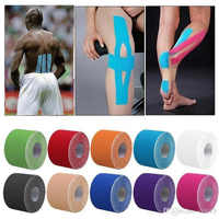 11 color Tape Muscle Bandage 5cm*5m Elastic Adhesive Strain Injury muscle Sticker Sport Kinesiology Tape Roll Cotton
