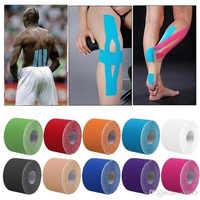 11 farbe Band Muscle Bandage 5cm * 5m Elastische Klebstoff Strain Injury muscle Aufkleber Sport Kinesiologie Band Rolle baumwolle