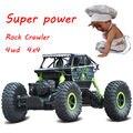 Envío Libre 4WD Coche RC Rastreadores de Rock 1: 18a 2.4G 4x4 de Conducción coche Doble Unidad Motores RC Coche Modelo De Vehículo de Carretera de Juguete