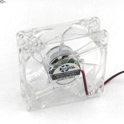 Ordenador de 80mm ventilador de refrigeración con 4ea led 8025 8cm silencioso cc 12V LED chasis luminoso conector axial