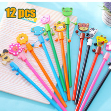 12PCS New Christmas Wooden Pencils / Novelty Cartoon Stationery HB Wood Pencils / Office school pencils /Children Student Gifts