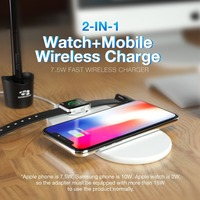 Wireless Charger Watch Stand Wofalo 2 In 1 Fast Wireless Charging Pad For Apple Watch IPhone