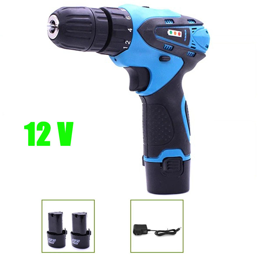 VOTO 2*Battery Rechargeable Cordless Drill Electric Screwdriver Set Lithium Power Tools Screw Gun Driver 12V Blue With Case 2018 цены онлайн