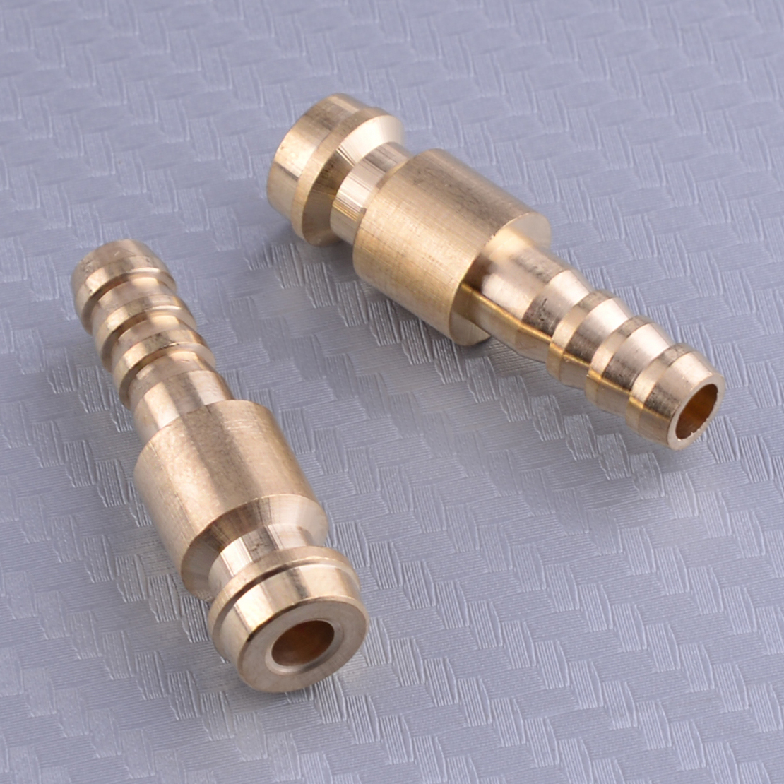 2pcs 6mm Gold Dia. Gas & Water Male Adapter Quick Connector Replacement For TIG Welding Torch Intake