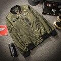 Homens Jaqueta Ma1 bomber homem casaco de Poliéster de manga Longa casual slim fit gola impressão homme oversize jaquates M-XXXXXL