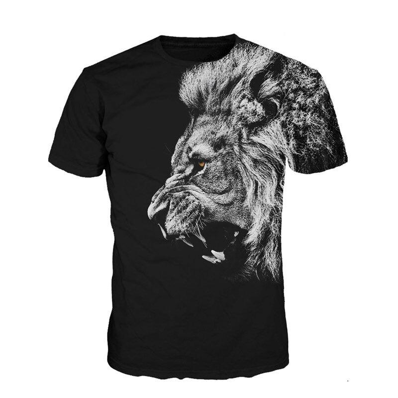 Men T-Shirt 3D Animal Tiger Lion Cat Mens T-Shirt Short Sleeve Print Novelty Casual Summer Men T shirt 3D Print Tee Tops 2017
