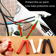 4/8pcs Bicycle Brake Shift Cable Protector Bike Frame Cable Protective Sleeve MTB Road Bike Fixed Gear Paint Protective Cover west biking bicycle protective film waterproof polyurethane anti scratch transparent mtb road bike protective frame gear sets