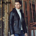 OLRIK 2016 PU Motorcycle Leather Jacket Suede Punk Casual Jacket Outerwear Brand New Men Winter Padded Leather Jackets Coat