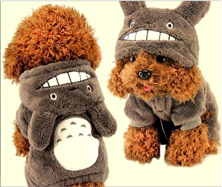 Free Shipping My Neighbor Totoro Clothes Pet Dog Clothes Teddy Autumn Winter pet coat Pets Clothes dog clothes HOT SALE!!