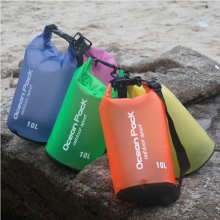 FDBRO Outdoor Colors Sheer PVC Waterproof Dry Storage Water Bag Rafting Sports Swimming Shoulder Straps 10L Pvc Folding