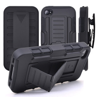Rugged Armor Phone Case For Apple IPhone 4s 5 5s 6 6s Plus Belt Clip Holster