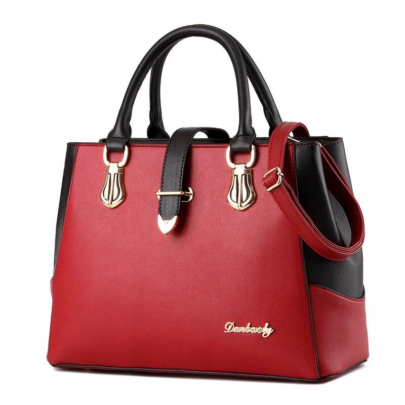 ФОТО Handbags Women Bag 2016 Luxury Crossbody Bags Top-handle For Women Messenger Ladies Bag Leather Shoulder Bags #16To31/9-2