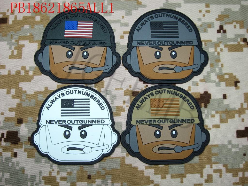 Always Outnumbered Never Outgunned Tactical military morale 3D PVC patch