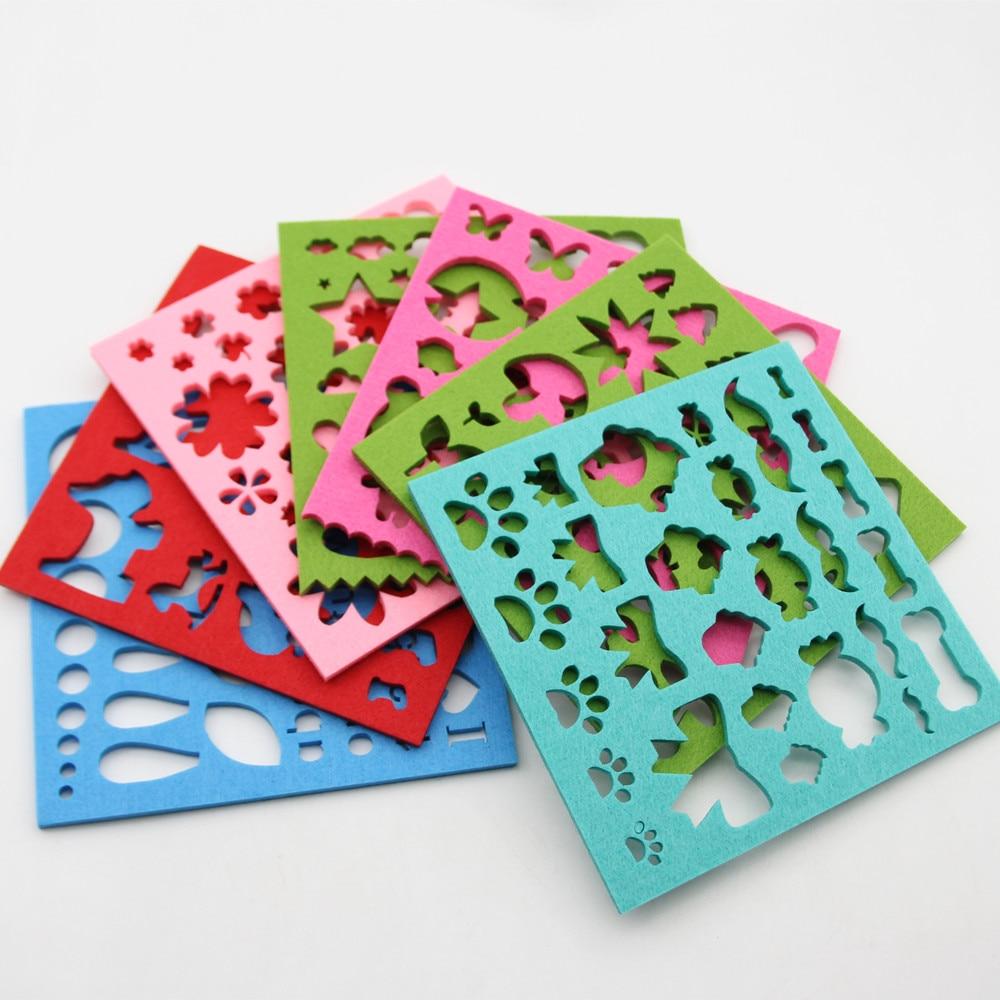 7pcs Felt Mold Needle Felting Molds DIY Stencil Applique Handcraft Woolen Felting Starter Making Tools Crafts Sewing Accessories