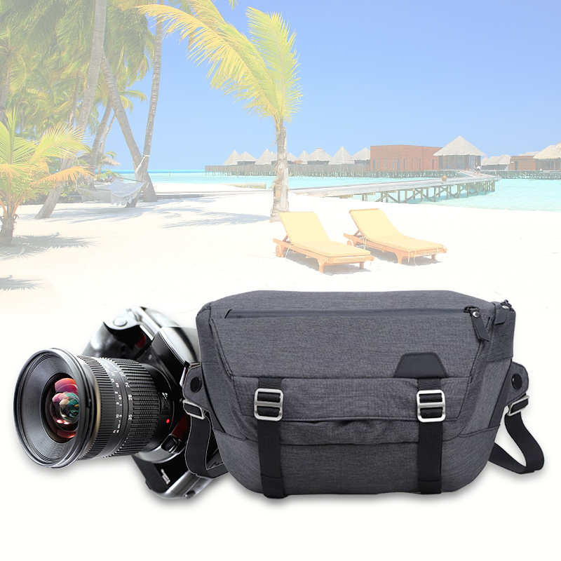 New Photo Camera Bag Fashion Polyester Shoulder Bag Sling Camera Case Backpack for Canon Nikon Sony FujiFilm Olympus DSLR Camera