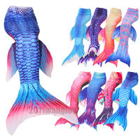 Fairy Mermaid Tail Scales Kids For Girl Adlut For Women Swimming Swimmable Swimwear Cosplay Costumes