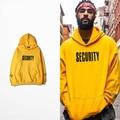 Justin Bieber NIEBLA de la calle en el mismo Propósito Gira amarillo con capucha fleece hombres solteros y mujeres amantes hoodies coat