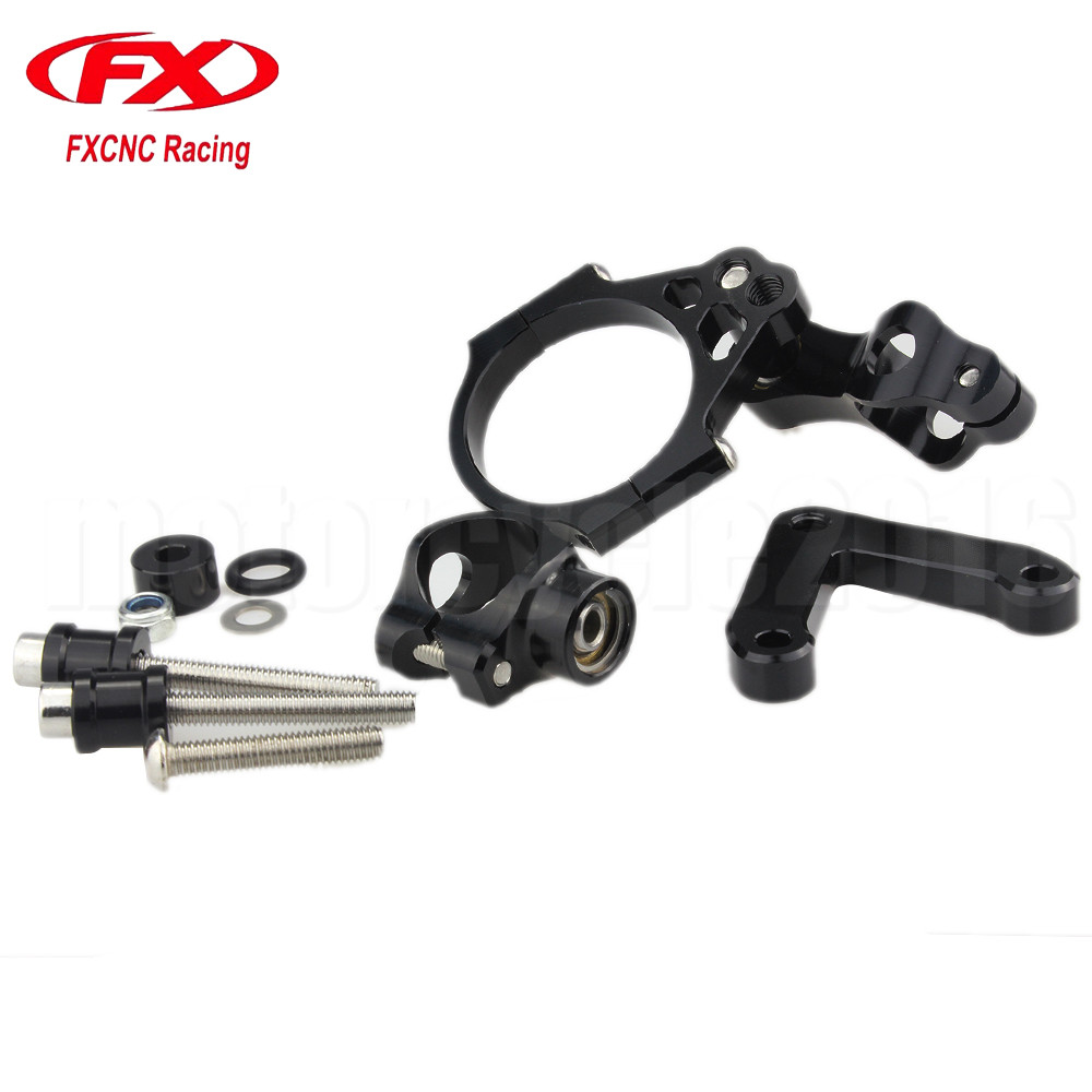 Adjustable Steering Stabilize Motorcycle Damper Bracket Mount kit For DUCATI 848 2008-2010 2009 Motobike Mounting Support fxcnc aluminum motorcycle steering stabilizer damper mounting bracket support kit for yamaha fz1 fazer 2006 2015 2007 2008 09