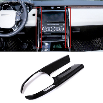 Gloss Black ABS Center Console Side Decoration Strips Trim Accessories For Land Rover Discovery 5 LR5 2017 Car-styling 2pcs
