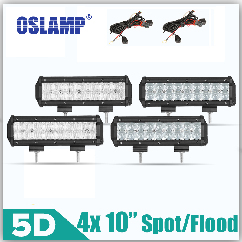 Oslamp 4pcs 90W 10 5D Flood Spot CREE Chips LED Work font b Light b font